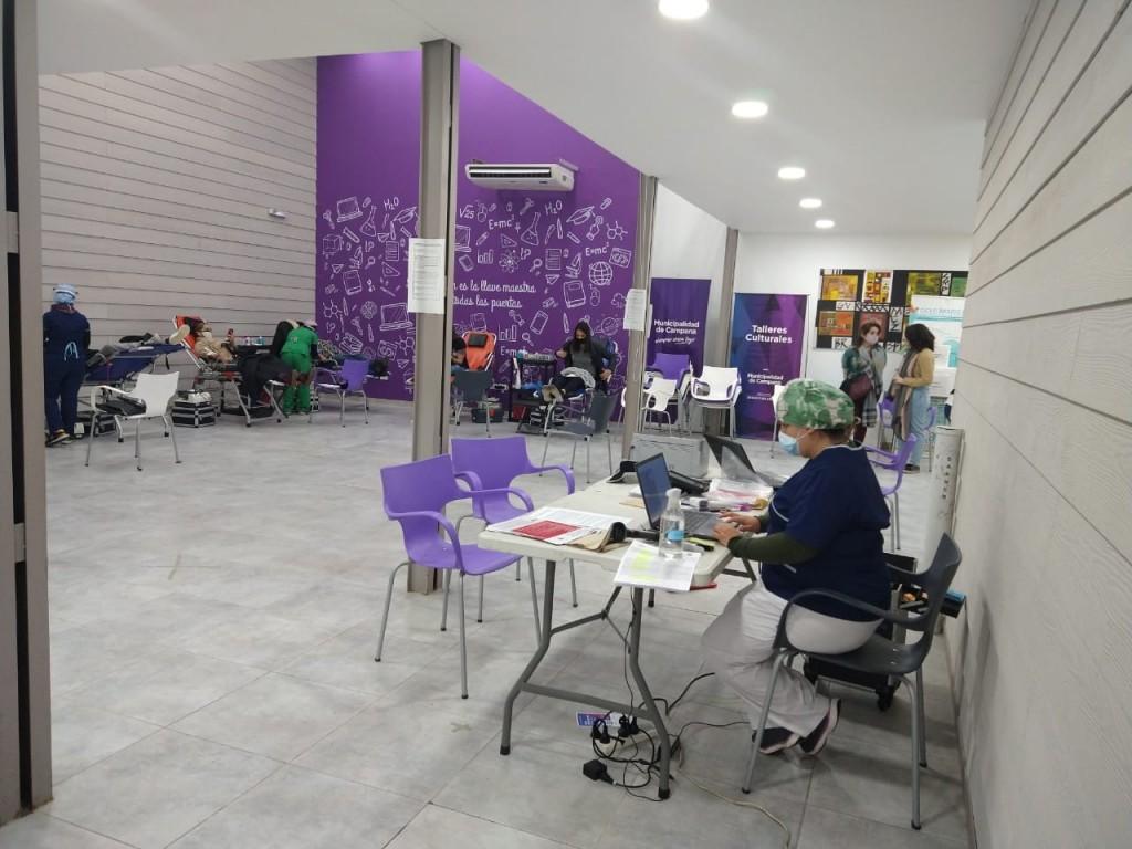 El Municipio acompañó la Campaña de Donación de Sangre del Hospital Garrahan
