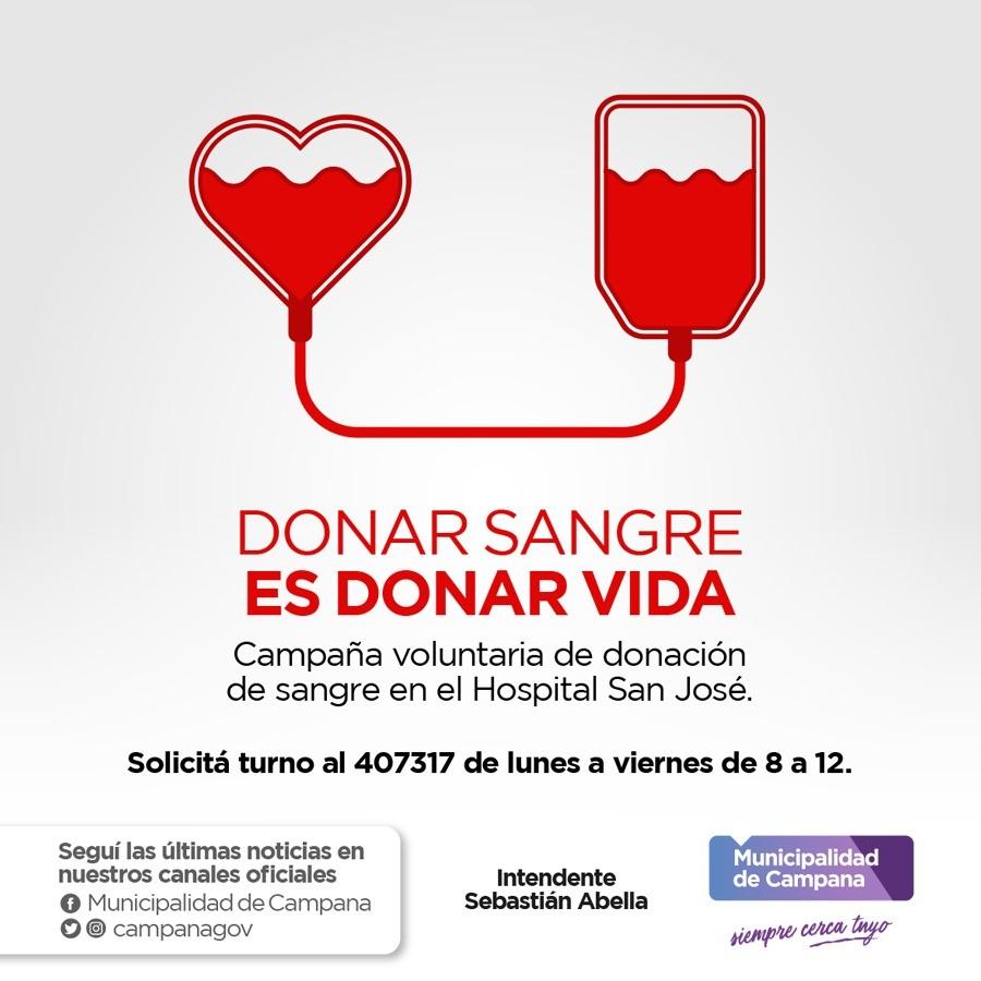 El hospital San José invita a la comunidad a donar sangre
