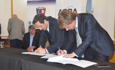 El intendente Abella firmó un Convenio Marco de Colaboración con ARBA