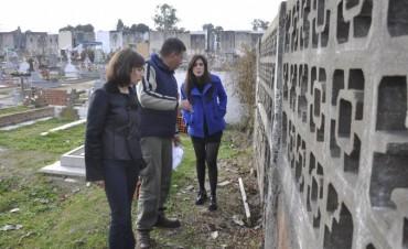 Comenzaron las obras de mejora en el cementerio local