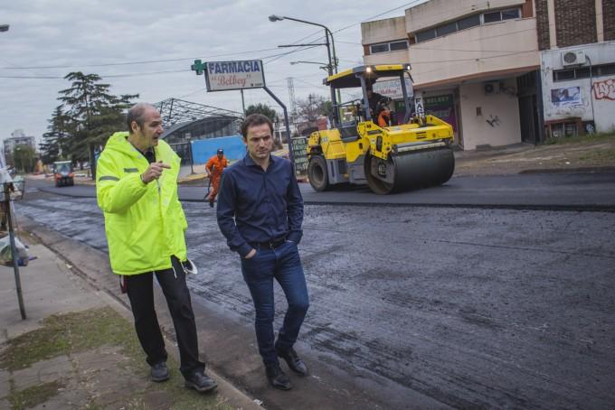 Culminan la repavimentación del boulevard Dellepiane