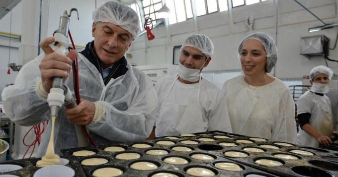 Macri y Vidal visitaron una pastelería artesanal en Vicente López