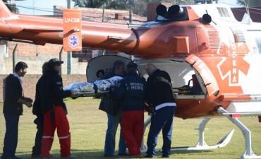 El Intendente gestionó ante el SAME un helicóptero sanitario para trasladar a un menor herido
