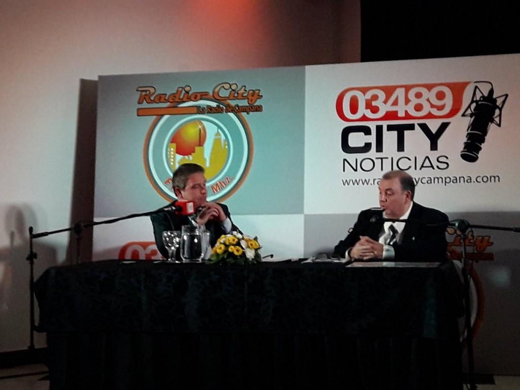 Radio City Campana FM 91.7 Mhz presentò al periodista Eduardo Battaglia