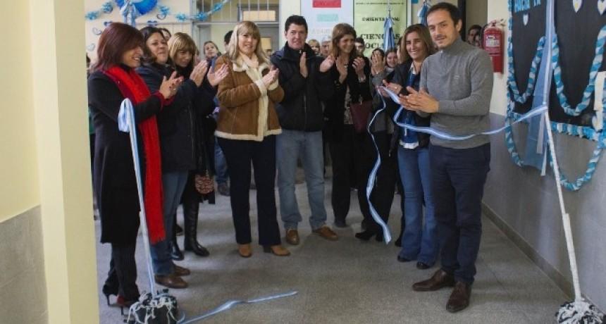 El Intendente inauguró obras de ampliación en la Escuela Secundaria Nº 13
