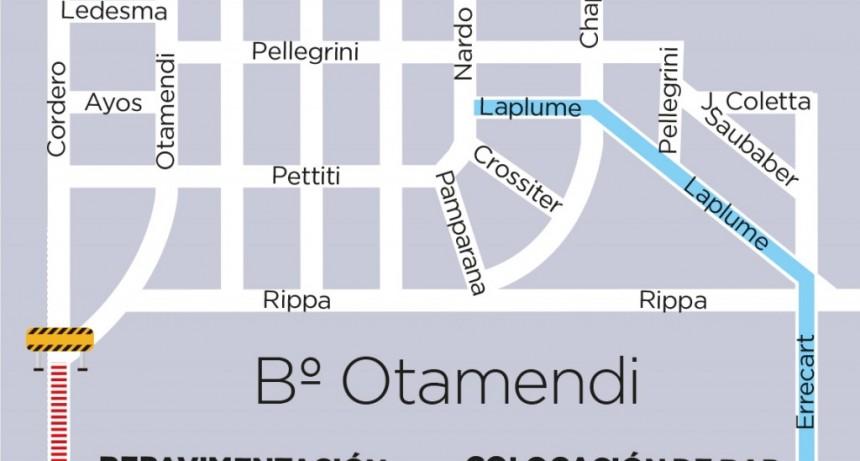 Otamendi: el Municipio repavimentará la entrada principal del barrio
