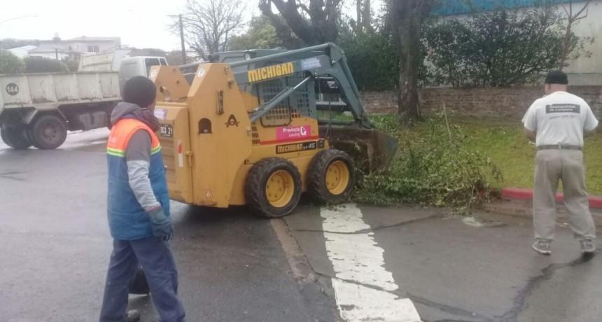 Para evitar anegamientos, se solicita no arrojar residuos y restos de poda a la calle