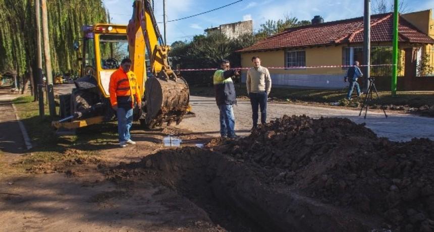 Las Acacias: importantes trabajos del Municipio para evitar anegamientos en el barrio