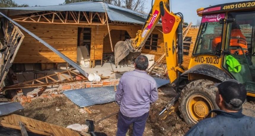 Destruyen un bunker de droga en San Cayetano