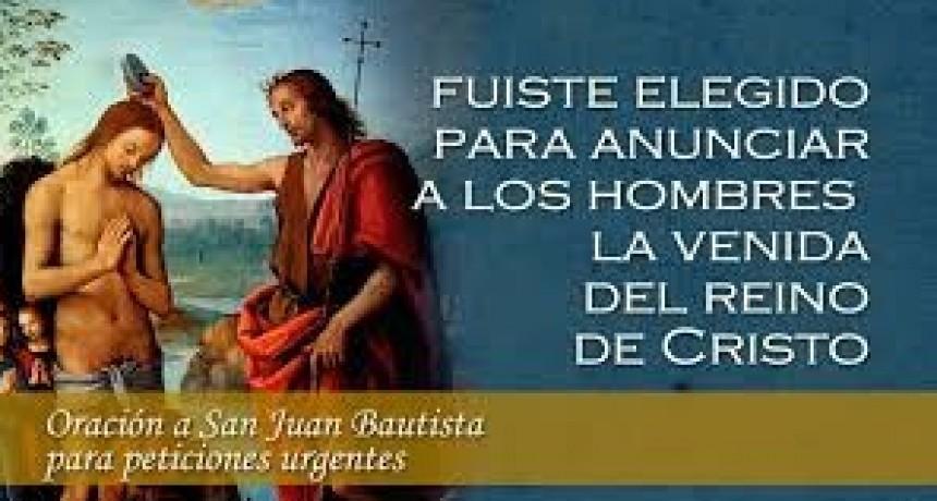 La Iglesia recuerda hoy la solemnidad de la Natividad de San Juan Bautista