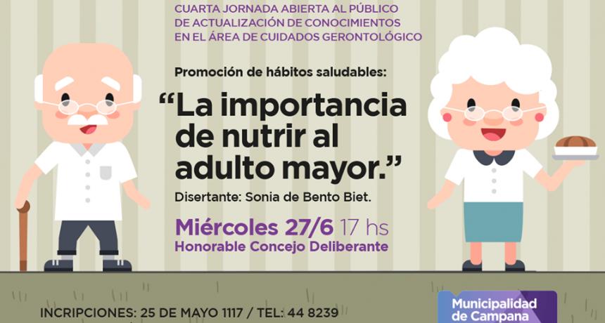 Invitan a los vecinos a participar de la 4º jornada sobre cuidados gerontológicos