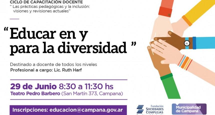 """Se presentará la conferencia """"Educar en y para la diversidad. Visiones y revisiones actuales"""""""