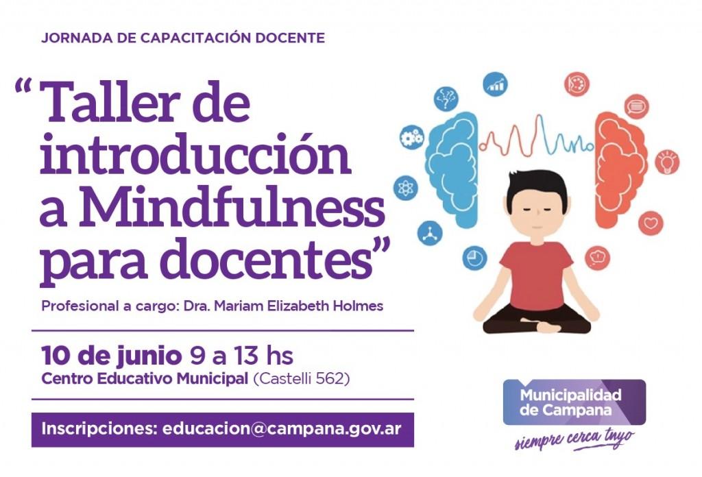 Está abierta la inscripción para el Taller de Introducción Mindfulness para docentes