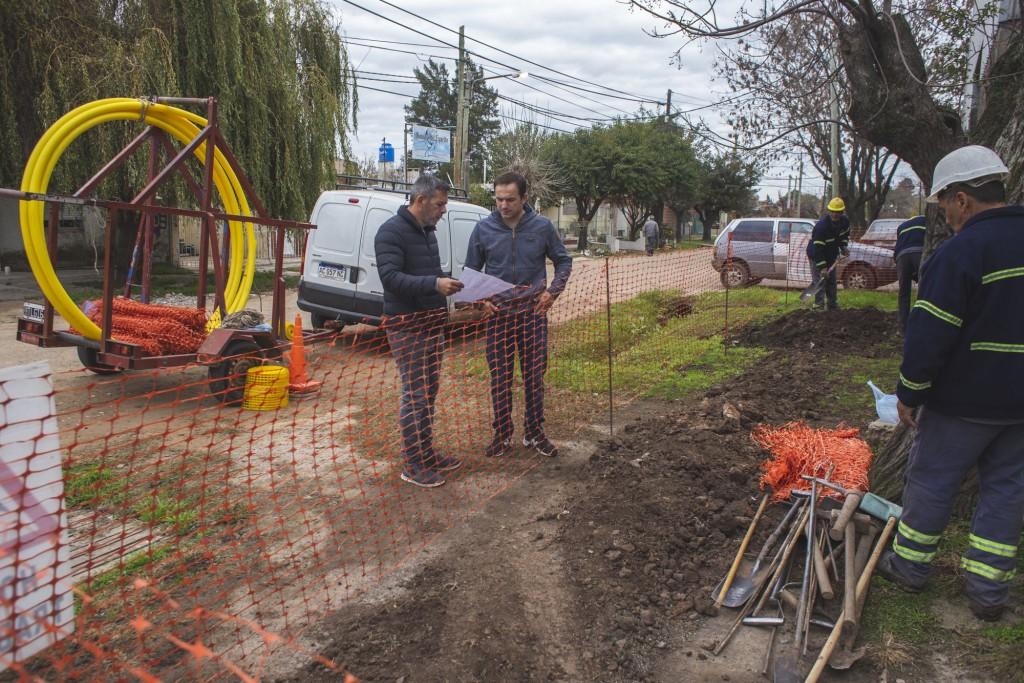 Ejecutan obras de ampliación de la red de gas en Los Nogales