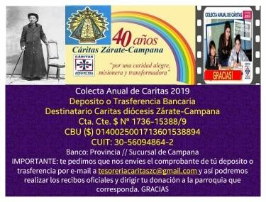 Colecta Anual de Càritas 2019