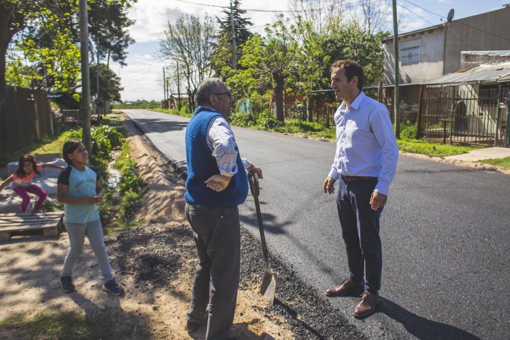 Abella anunció más asfalto para La Josefa