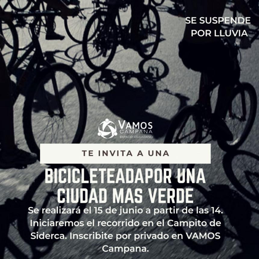 Desde Vamos Campana organizan una bicicleteada