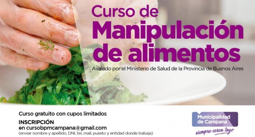 Está abierta la inscripción para un nuevo Curso de Manipulación de Alimentos