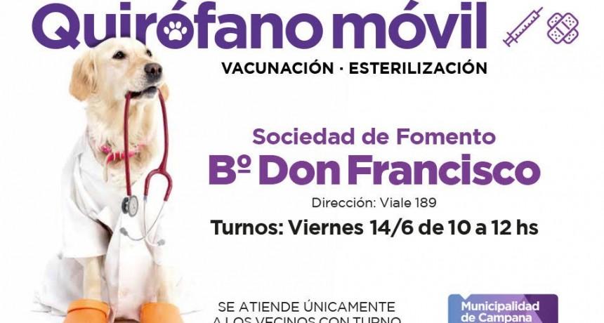 Quirófano móvil: mañana se entregarán turnos en Don Francisco y Siderca