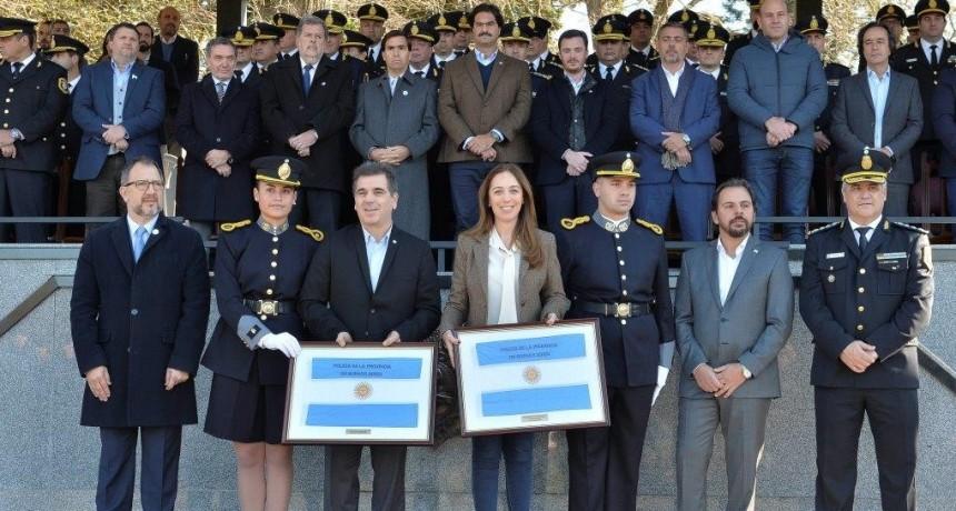 VIDAL Y RITONDO ENCABEZARON EL ACTO DE LA JURA DE LA BANDERA NACIONAL DE 2200 CADETES DE LA POLICÍA BONAERENSE