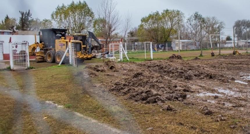 El Municipio puso en marcha un plan de recuperación de canchas de fútbol barriales