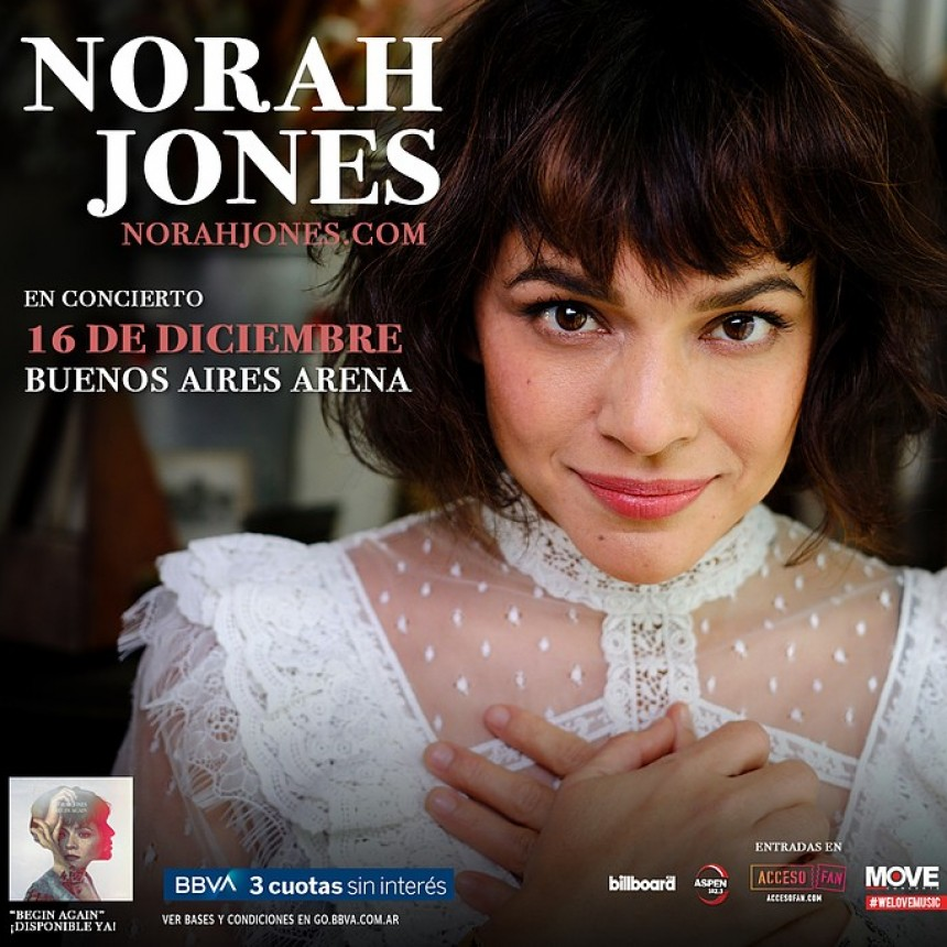 Norah Jones en Argentina comenzó la preventa