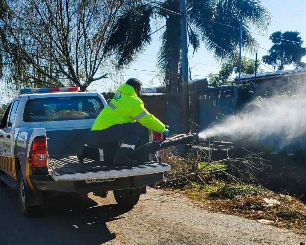 El Municipio realizó un operativo preventivo de Covid-19 en barrio La Esperanza