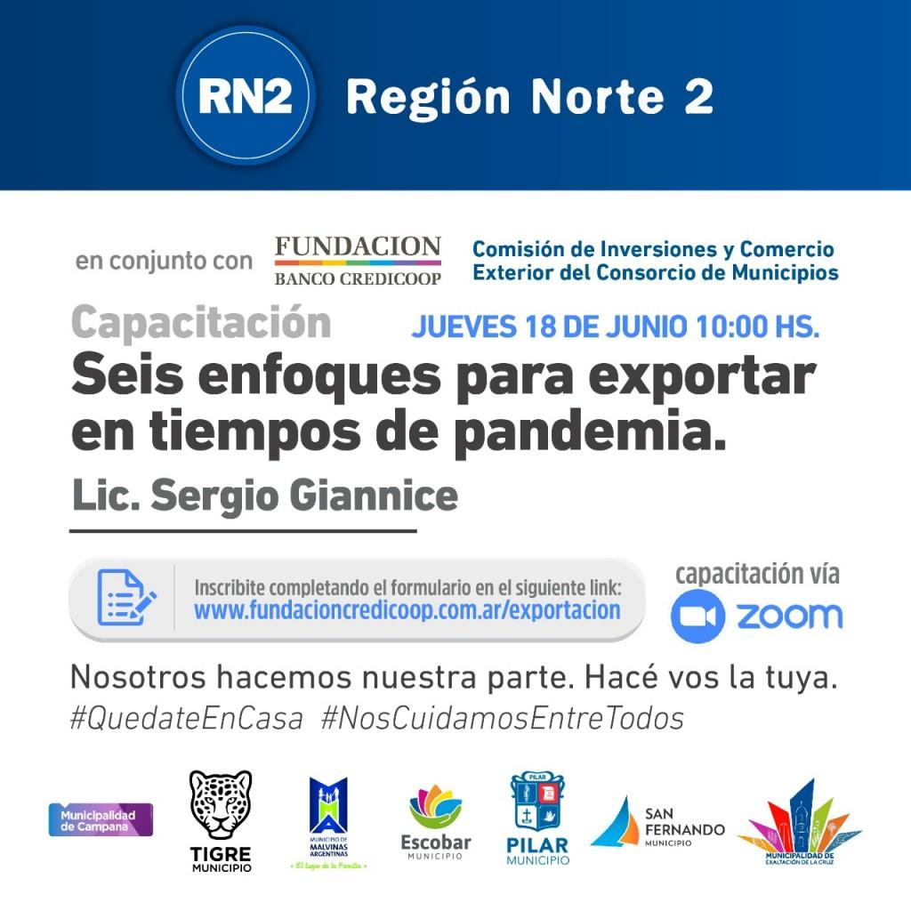 Los vecinos podrán participar de una capacitación virtual de Región Norte 2