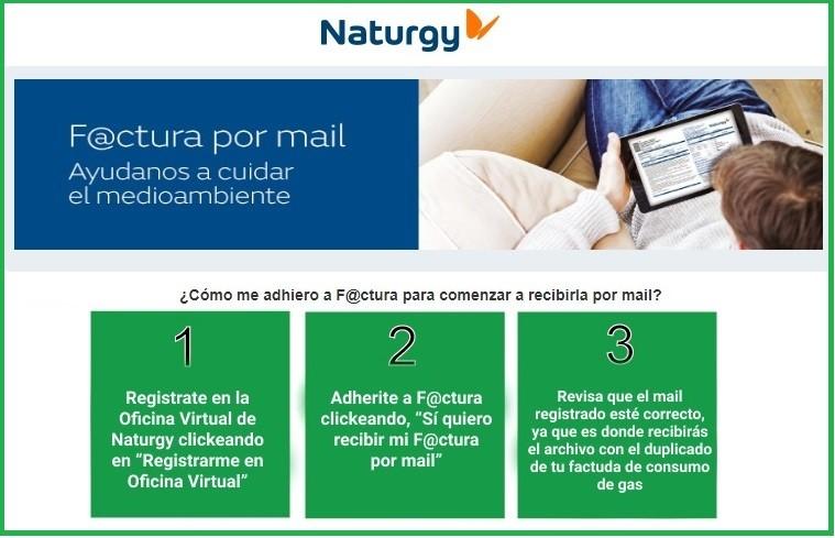 Más de medio millón de usuarios de Naturgy han adherido al servicio F@ctura por Mail