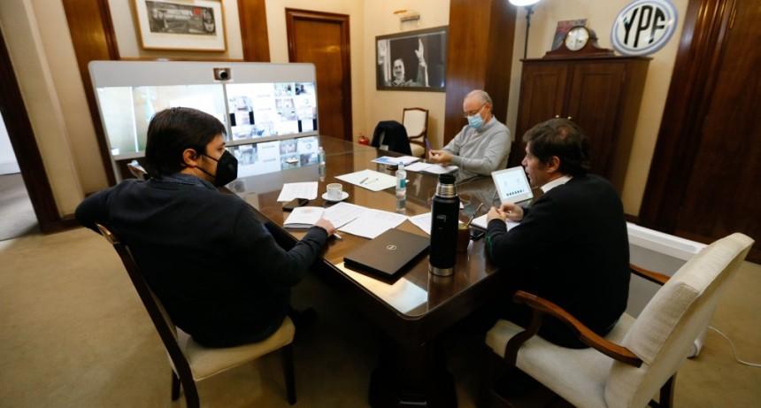 Kicillof mantuvo un encuentro con los directores de los hospitales provinciales