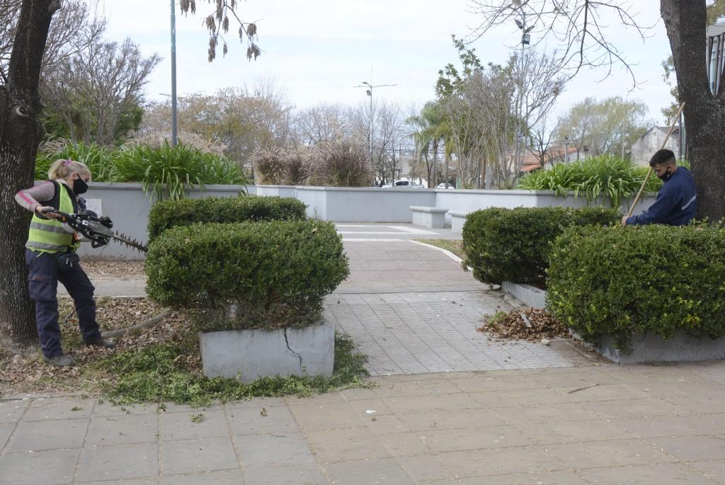 Los trabajos son en el marco del plan de mantenimiento y puesta en valor de los espacios públicos que impulsa el Municipio.
