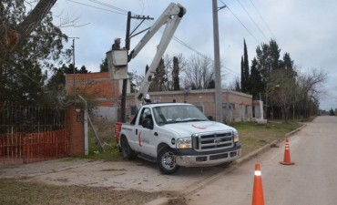 El Municipio realizó distintos trabajos de mantenimiento en Los Pioneros