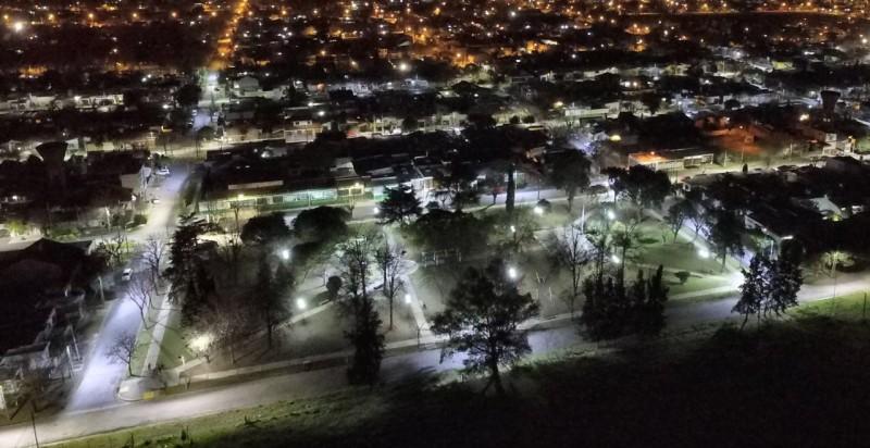 Ariel del Plata se convirtió en el primer barrio cien por ciento LED de la ciudad