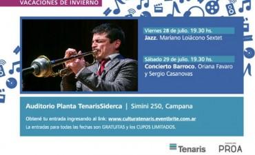 Este Viernes 28 de enero noche de Jazz en el ciclo organizado por Tenaris