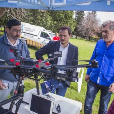 """El Municipio incorporó drones para monitorear la ciudad y evitar hechos delictivos de los """"tira piedras"""""""