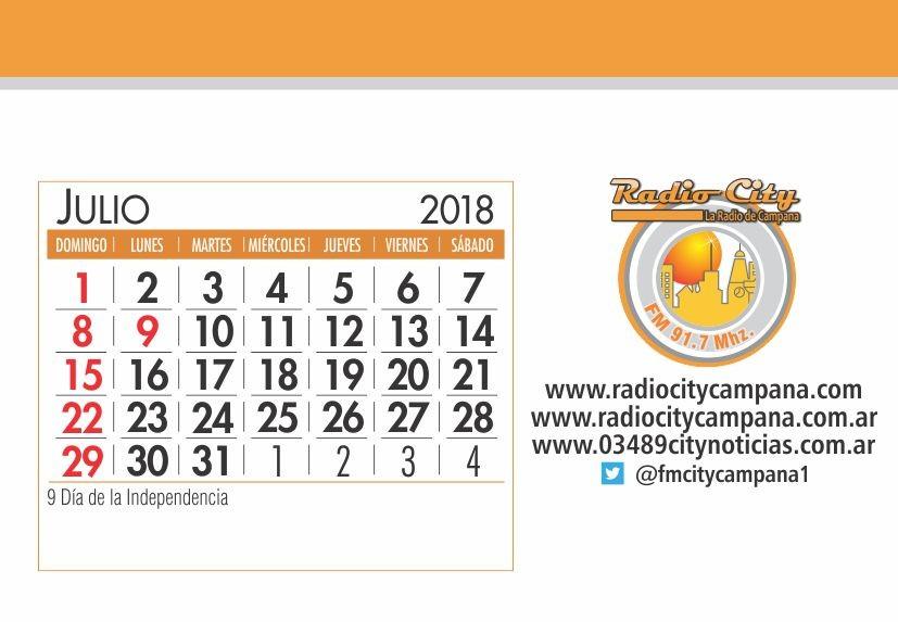 Mes De Julio Calendario.Calendario Mes De Julio De 2018