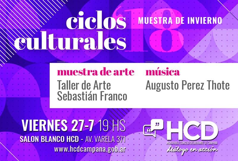 """Se viene el segundo """"Ciclo Cultural"""" a puro arte y música"""