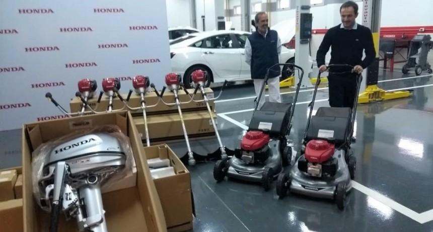 El Municipio recibió una importante donación de la empresa Honda Motor