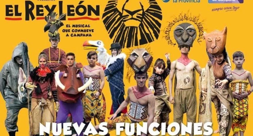"""""""El rey león"""" sumó tres nuevas funciones"""