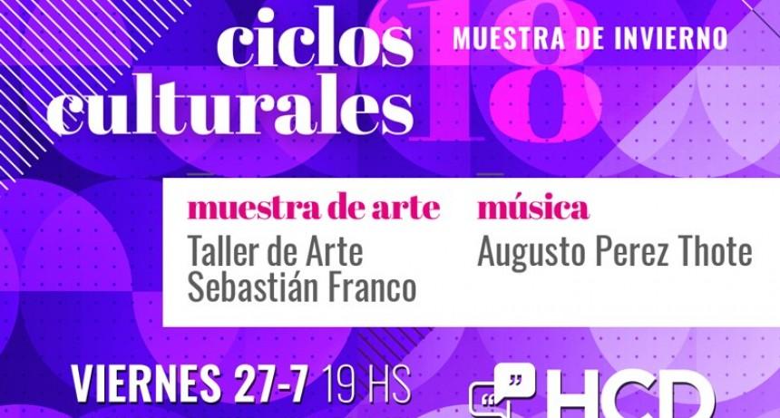 """""""Ciclos Culturales"""": Sebastián Franco y Augusto Pérez Thote llenarán de arte y música el HCD"""