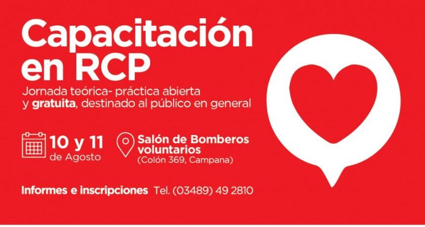RCP: se realizarán capacitaciones gratuitas abiertas a la comunidad