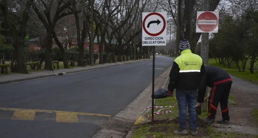 Cambió el sentido de la calle Luis Costa entre Balcarce y Marconi