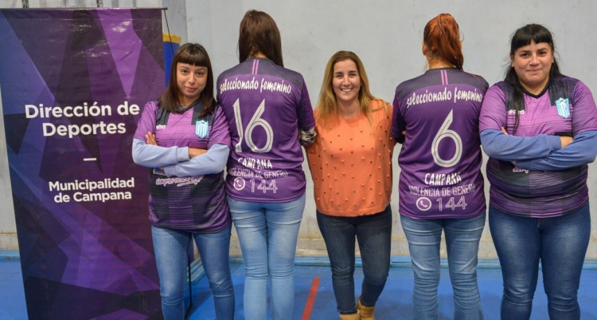 Schvartz entregó camisetas a la Selección Femenina de la Liga Campanense