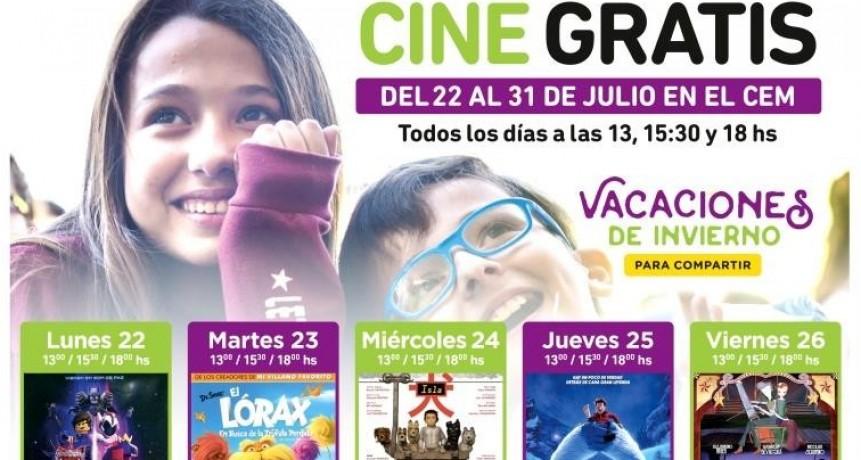 Estas vacaciones de invierno hay cine gratuito en el CEM