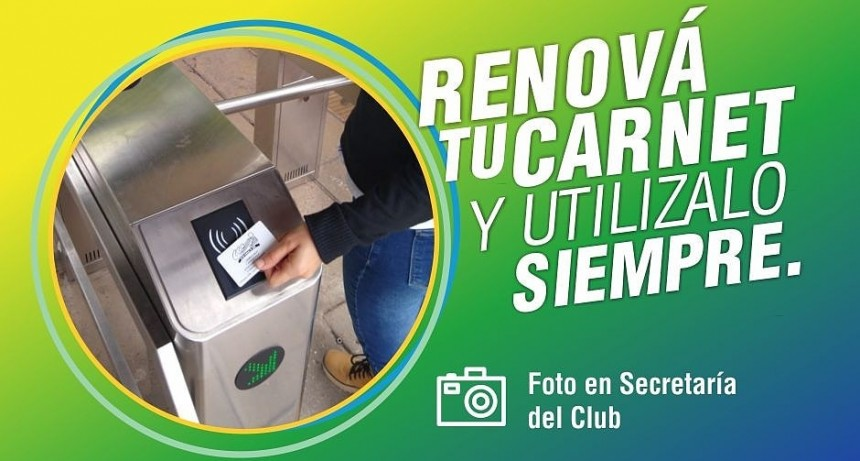 Renová tu Carnet del Club Ciudad de Campana