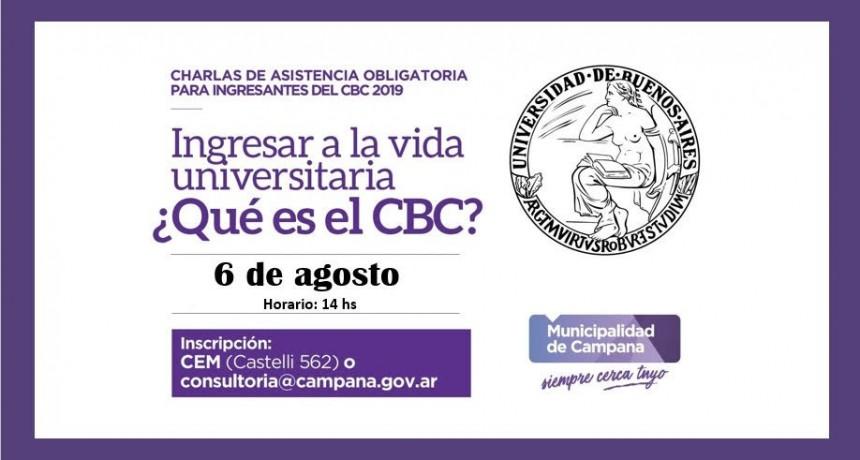 Se realizará una charla obligatoria para ingresantes al CBC