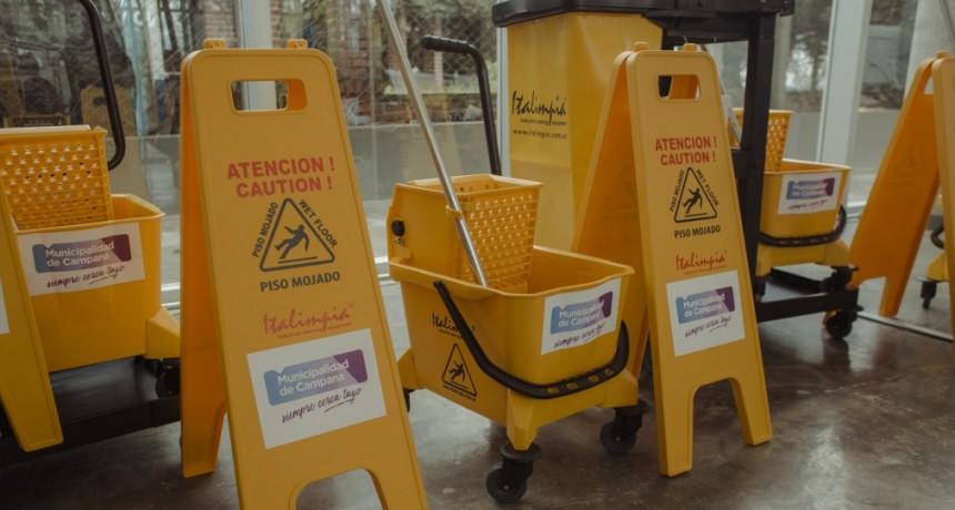 El Municipio entregó equipamiento al personal de limpieza