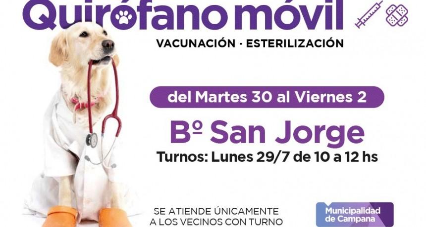 El quirófano móvil estará esta semana en San Jorge