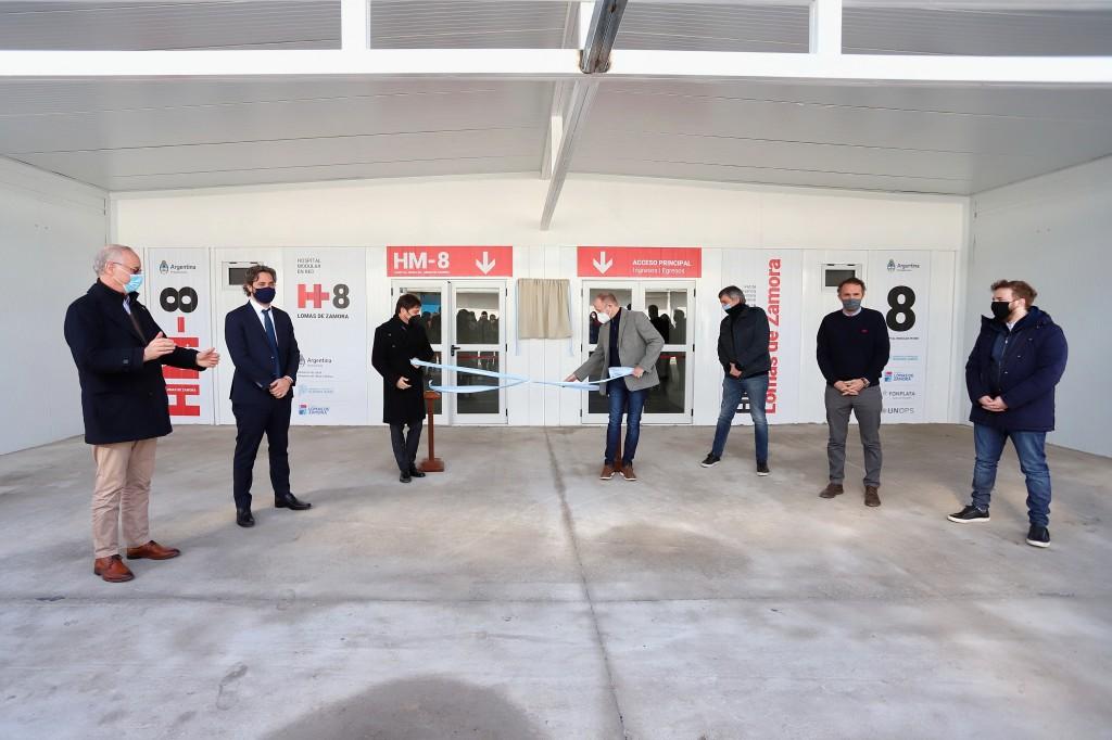 Kicillof participó de la inauguración del Hospital Modular de Villa Fiorito