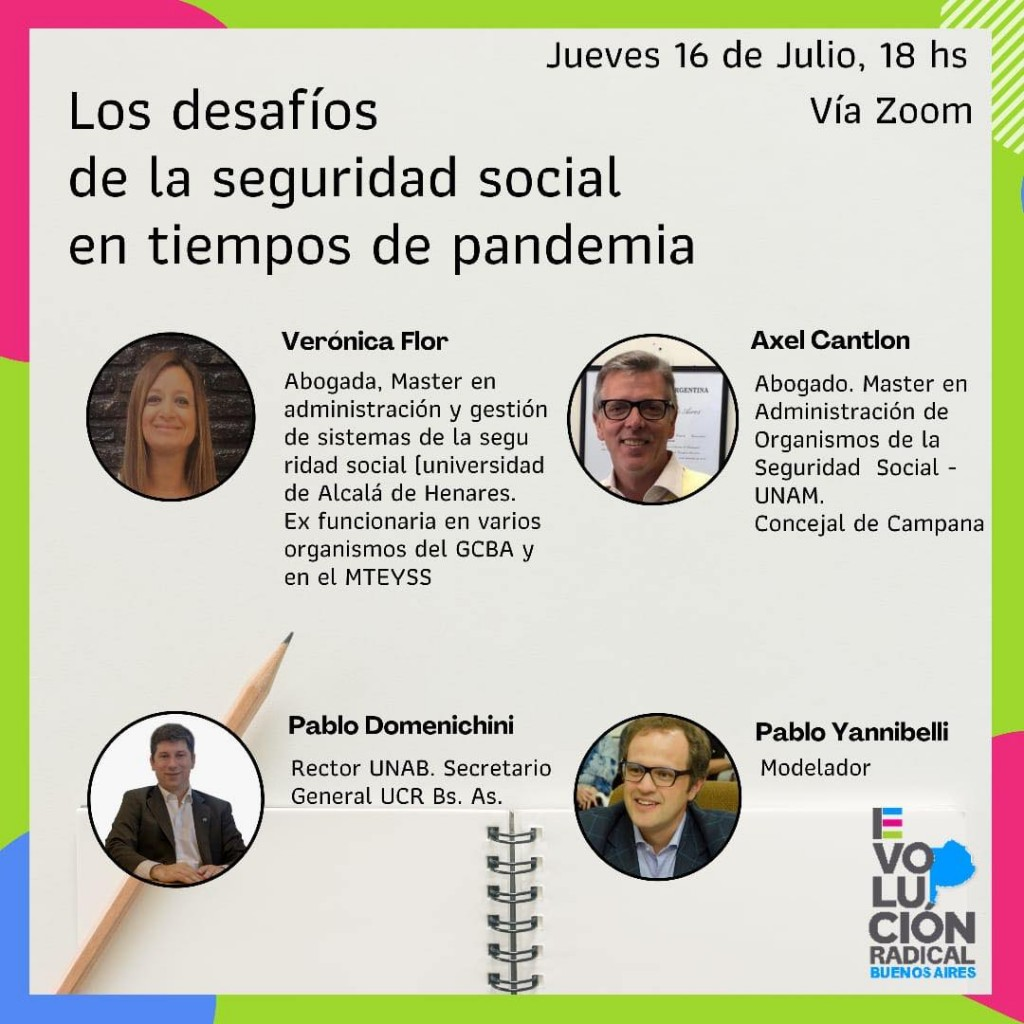 Axel Cantlon brindará charla sobre seguridad social junto a referentes de Evolución y Confluir